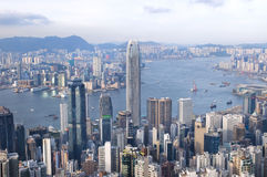 Hong Kong van Lugard-Road op de Piek wordt gezien die stock foto