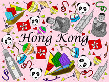Hong Kong vector illustration Stock Image
