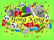 Hong Kong vector illustration Stock Photo