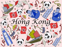 Hong Kong vector illustration Royalty Free Stock Photos