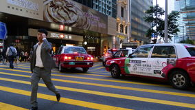 Hong Kong-Verkehr am Abend stock video footage