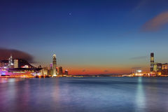 Hong Kong Victoria Habour night view Royalty Free Stock Photos