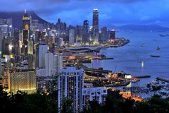 Hong Kong Victoria Habour Royalty Free Stock Images