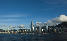 Hong Kong victoria hamn Royaltyfria Bilder