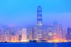 Hong Kong Victoria hamnmorgon Royaltyfria Bilder