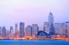 Hong Kong Victoria hamnmorgon Arkivbilder