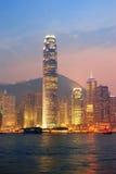 Hong Kong Victoria hamnmorgon Royaltyfri Foto