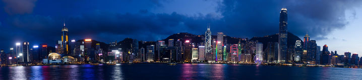 Hong Kong,victoria harbor. Hong Kong, China skyline panorama from across Victoria stock images