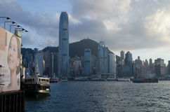 Hong Kong,victoria harbor. Hong Kong, China skyline panorama from across Victoria royalty free stock image