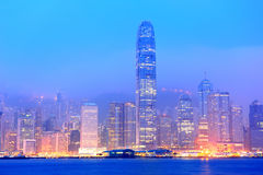 Hong Kong Victoria Harbor morning Royalty Free Stock Images