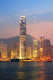 Hong Kong Victoria Harbor morning Royalty Free Stock Photo