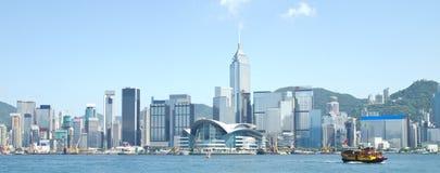 Hong Kong Victoria Harbour. Hong Kong Landmarks on day Stock Image