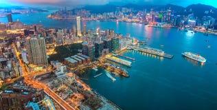Hong Kong Victoria Harbour stock foto's
