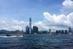 Hong Kong Victoria harbour Royalty Free Stock Image