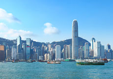 Hong Kong victoria harbour Stock Photography