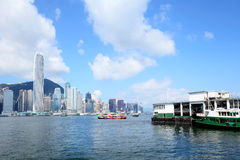 Hong Kong victoria harbour Stock Images