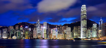 Hong Kong and victoria harbour Royalty Free Stock Images