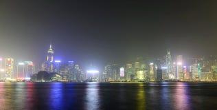 Hong Kong Victoria Harbour sunset view Stock Photos