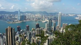 Hong kong victoria harbour royalty free stock photo
