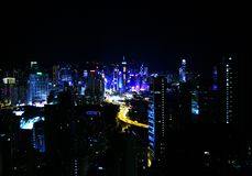 Hong Kong Victoria Park view from roof royalty free stock photography