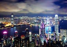 Hong Kong from Victoria peak royalty free stock image