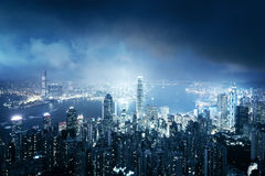 Hong kong from the Victoria peak Royalty Free Stock Photos