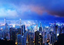 Hong kong from the Victoria peak Royalty Free Stock Image