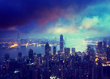 Hong kong from the Victoria peak Stock Image