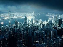 Hong kong from the Victoria peak Royalty Free Stock Images