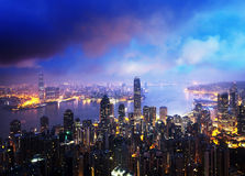 Hong kong from the Victoria peak Royalty Free Stock Photo