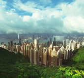 Hong Kong from Victoria Peak Stock Photos