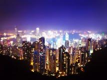 Hong Kong from  Victoria peak Stock Image