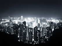 Hong Kong from  Victoria peak Stock Photography