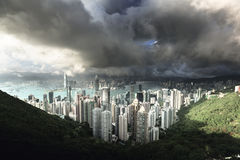 Hong Kong from Victoria Peak Royalty Free Stock Photos