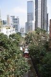 Hong Kong Victoria Peak Tram Royaltyfri Bild