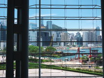 Hong Kong view. View from the Hong Kong Convention and Exhibition Centre stock photo