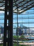Hong Kong view. View from the Hong Kong Convention and Exhibition Centre royalty free stock photography
