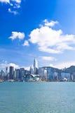 Hong Kong view along the seashore Royalty Free Stock Images