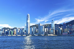 Hong Kong view along Victoria Harbor Royalty Free Stock Photography