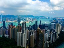 Hong Kong view. This is an amazing view of the Hong Kong city from The Peak Victoria royalty free stock photos