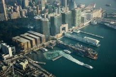 Hong Kong View a partir ICC de Sky100 Fotos de archivo libres de regalías