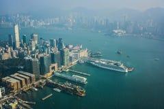 Hong Kong View a partir ICC de Sky100 Imagenes de archivo