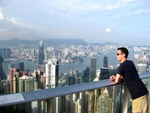 Hong kong. View from the peak Royalty Free Stock Photography