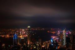 Hong Kong View Point The-Spitzen-Standpunkt Stockbilder