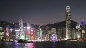 Hong Kong. View of Hong Kong Skyline stock footage