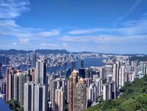 Hong Kong. A view from somewhere up in the Hong Kong Royalty Free Stock Photos