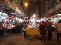 Hong Kong view: temple street Royalty Free Stock Photography