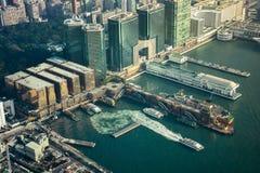 Hong Kong View van ICC Sky100 Stock Fotografie