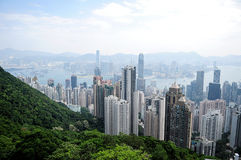 Hong Kong. View of Hong Kong from Victoria Peak stock photography