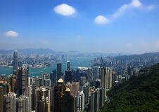 Hong Kong, View from the Victoria Peak. Stock Photo
